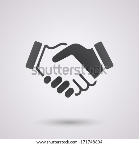 black icon handshake. background for business and finance