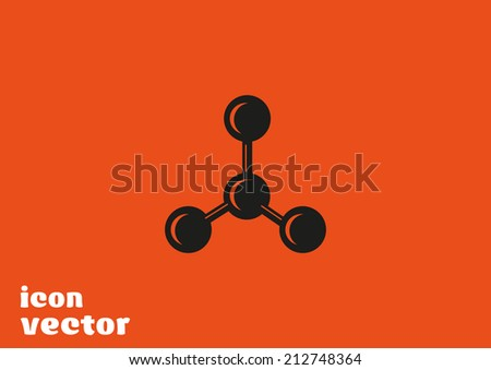 Black icon on orange background - stock vector