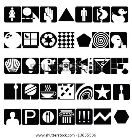 black icons - stock vector