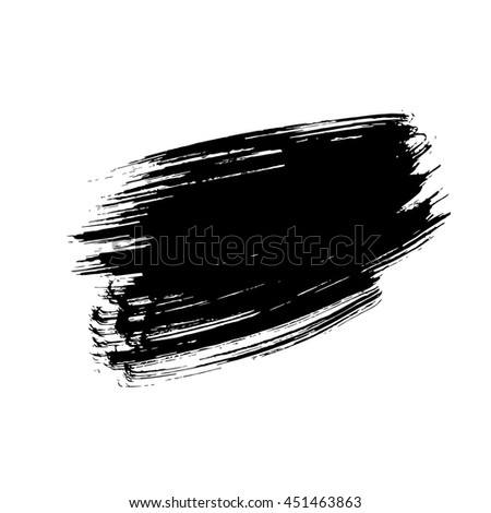 Black ink hand drawn paintbrush brush vector illustration. Stroke or scribble isolated element. Can be used for Black Friday banner design