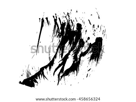 black ink splat isolated on white background vector