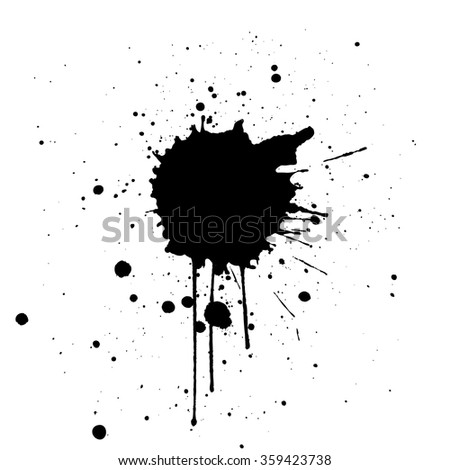 Black Ink Splatter Background. illustration vector design - stock vector