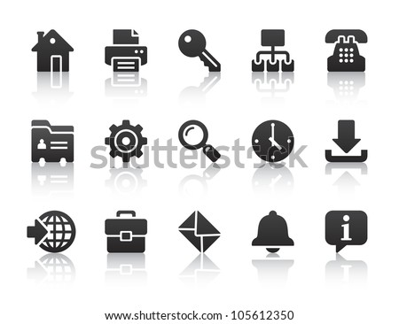 black internet icons - stock vector