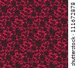 black lace with floral seamless pattern on red background - stock vector