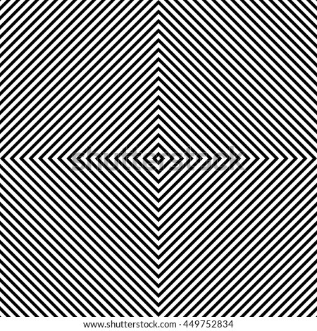 Black Lines. Background With Optical Illusions. Vector Illustration
