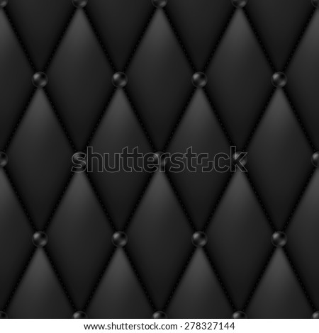 Black Luxury Leather Upholstery seamless pattern - stock vector
