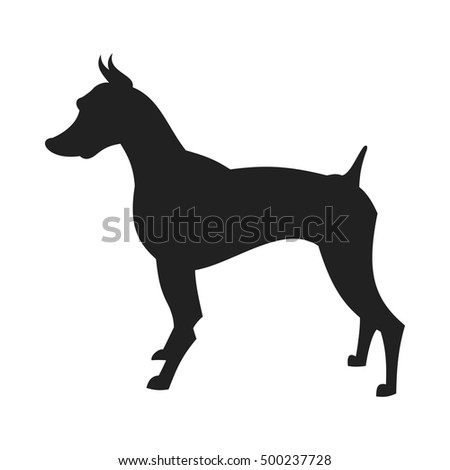 Black Male Doberman Silhouette