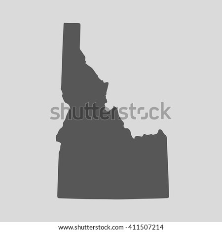 Black map of the State of Idaho - vector illustration. Simple flat map State of Idaho. - stock vector