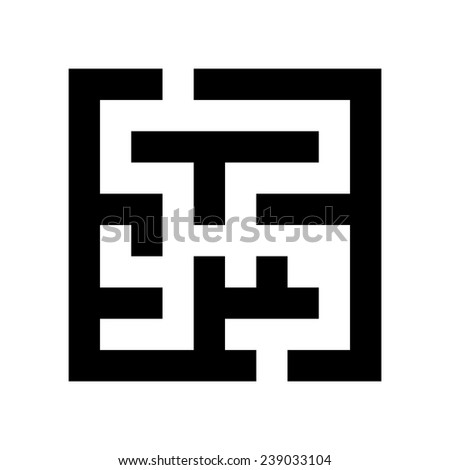 black maze icon isolated on white background. trendy modern logo design vector illustration - stock vector