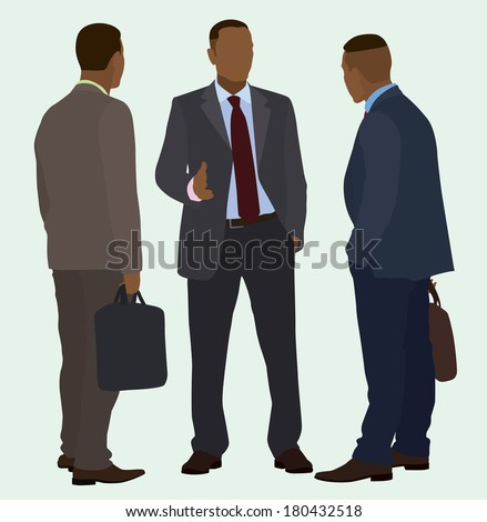 Black Men Talking - stock vector