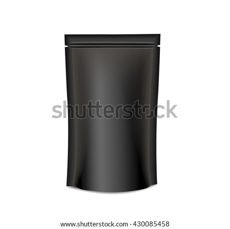Black Mockup Blank Foil  - stock vector