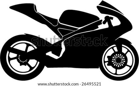 Black motorcycle Racing style - stock vector