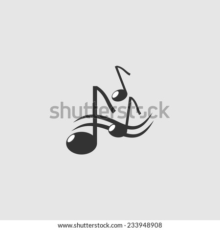 black music notes  - stock vector