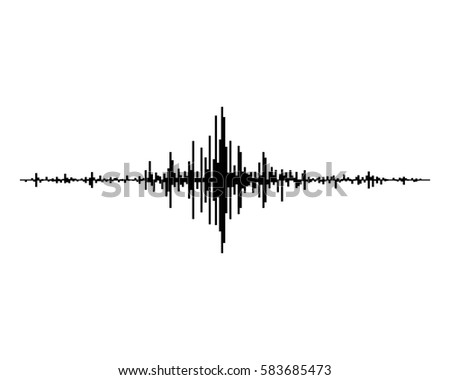 black music sound waves isolated on stock vector 583685473