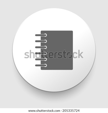Black notebook icon, isolated on white background. - stock vector