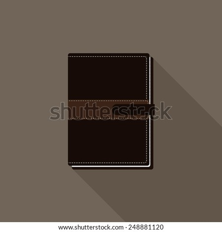 Black notebook icon - Vector - stock vector