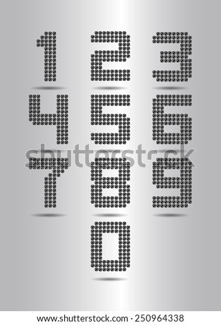 Black number - stock vector