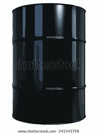 Black Oil Barrel. Vector illustration of Black Oil Barrel. - stock vector