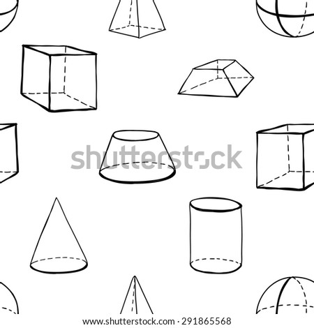 Black outline hand drawn vector frustum cone truncated for Truncated cone template