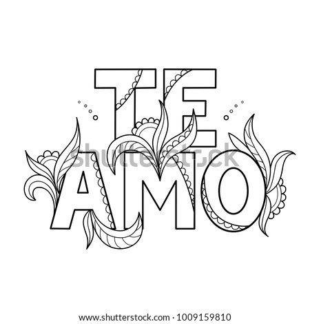 Te amo stock images royalty free images vectors for Te amo coloring pages