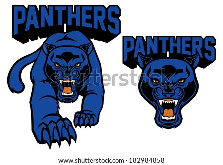 black panther mascot - stock vector