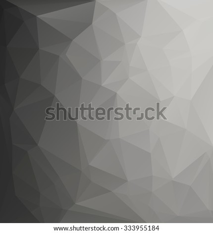 Black Polygonal Mosaic Background, Creative Design Template