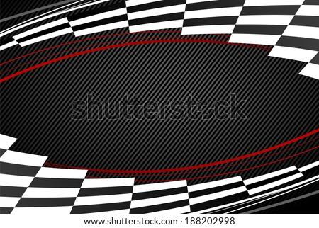 black racing background. eps8 - stock vector