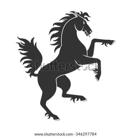 Rearing Horse Stock Im...