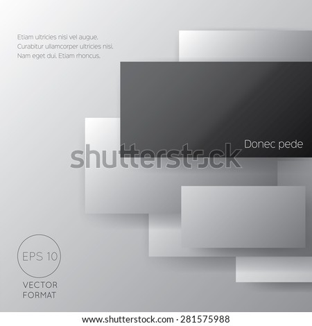 Black rectangle blank business background - Vector Design Concept