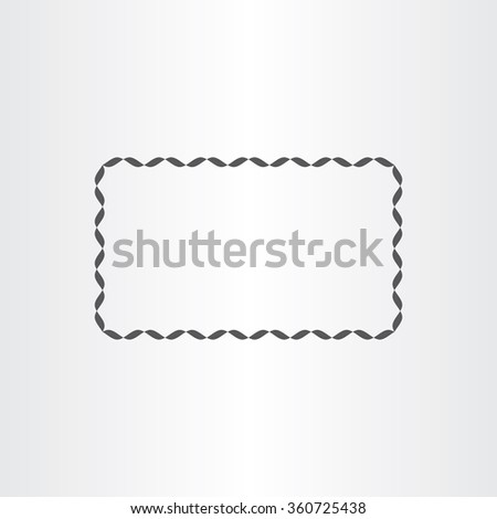 black rectangle decorative vector frame element design