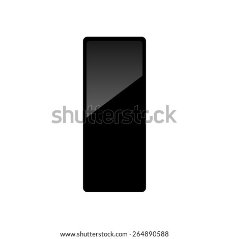 Black rectangular web button. Vector illustration.