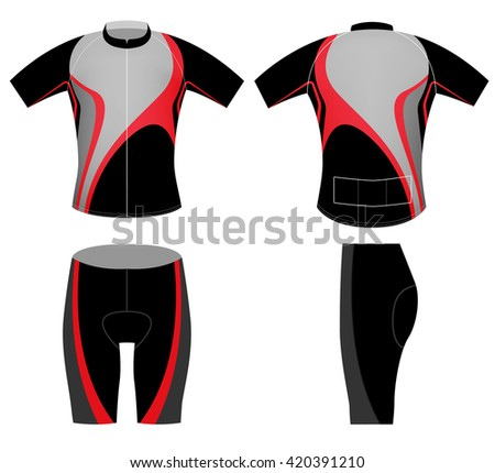 Black red cyclist,cycling vest vector design on a white background