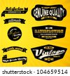 Black Retro labels. - stock vector