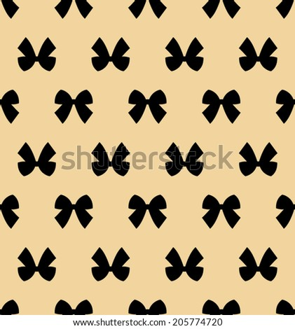 Black Ribbons Seamless Pattern