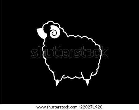 Symbol Sheep Black Sheep Logo Symbol Icon