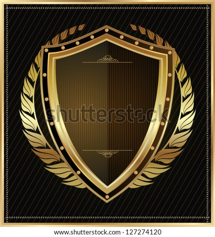 Black shield - stock vector