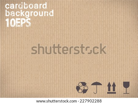 black shipping Icons on cardboard background.vector illustration - stock vector