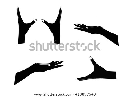 Hand Holding Silhouette