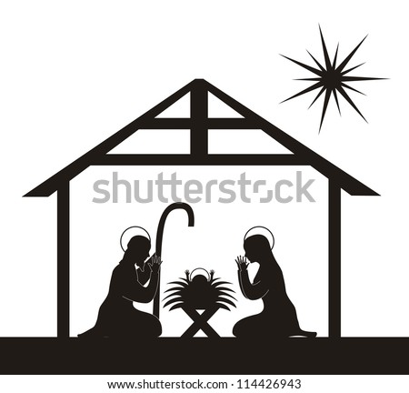 Christmas Nativity Silhouette Stock Images, Royalty-Free Images ...