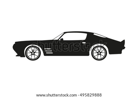 Vector Isolated Car Silhouette Image Black Stock Vector