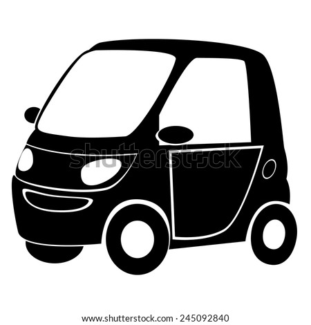Black silhouette of car, vector