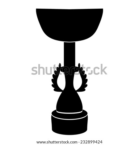 Black silhouette of Champions Cup