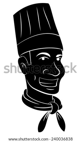 Black Silhouette Of Chef Head