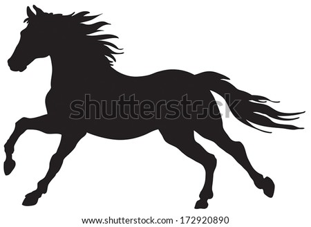 Running Horse Silhouette Stock Images, Royalty-Free Images ... - photo#5