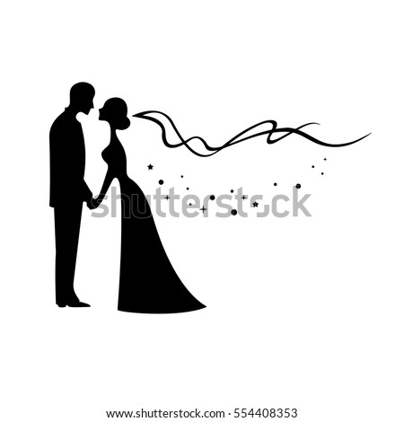 silhouette brautpaar stock images royaltyfree images