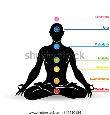 meditation chakras stock illustration 96836407  shutterstock