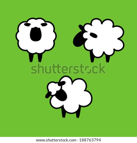 Sheep Vector Silhouette Black Silhouettes of Sheep on