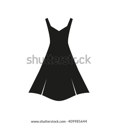 Black simple dress.Dress Icon/Dress Icon Object/Dress Icon Picture/Dress Icon Drawing/Dress Icon Image/Dress Icon Graphic/Dress Icon Art/Dress Icon JPG/Dress Icon JPEG/Dress Icon EPS/Dress Icon AI - stock vector