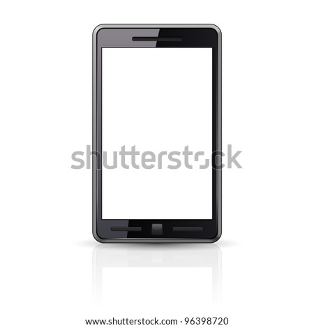 Black Smart-phone isolated on white background