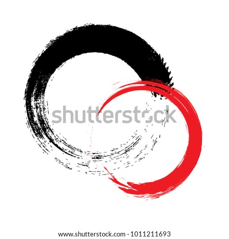 Black smear on a white background. Grunge ink stains and drops. High-quality manual tracing of vector illustrations. Black hand-painted ink.